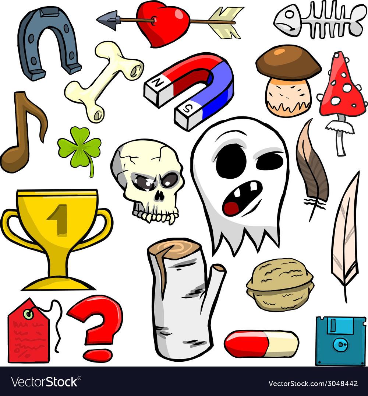 Cartoonish objects vol 6 vector | Price: 1 Credit (USD $1)