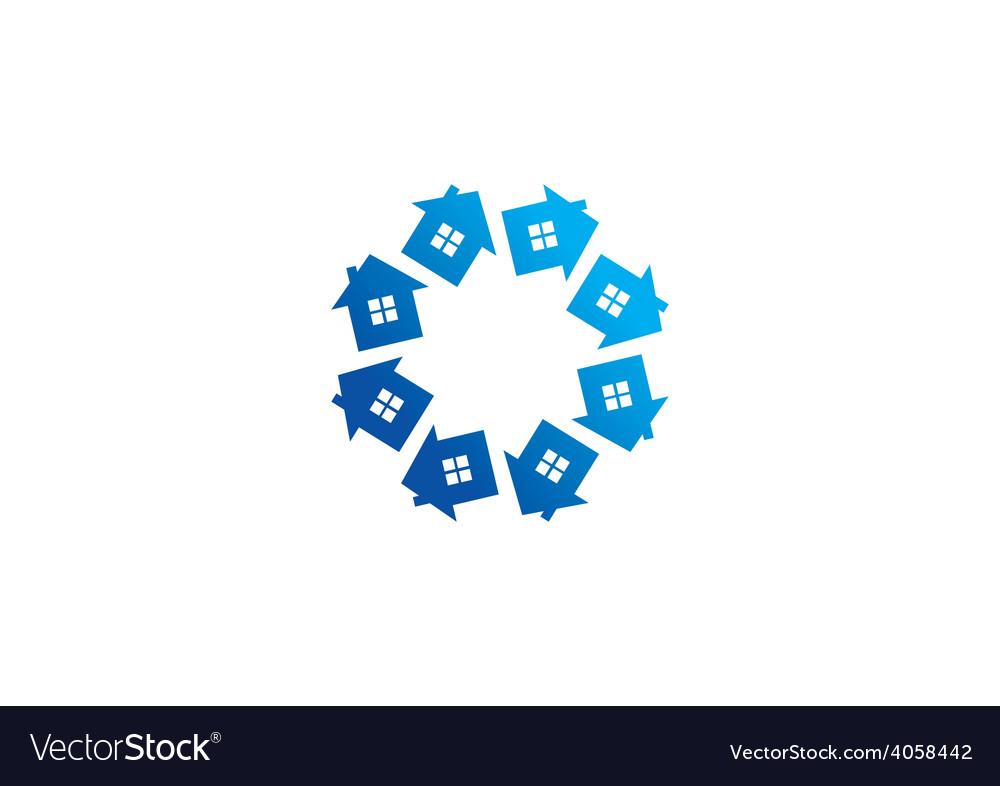 Circular home realty abstract logo vector | Price: 1 Credit (USD $1)