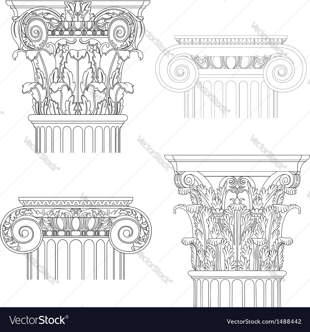 Classic style column vector | Price: 1 Credit (USD $1)