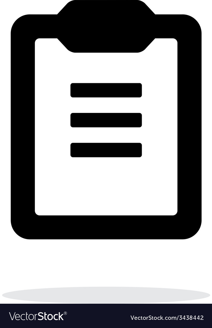 Clipboard with text simple icon on white vector | Price: 1 Credit (USD $1)