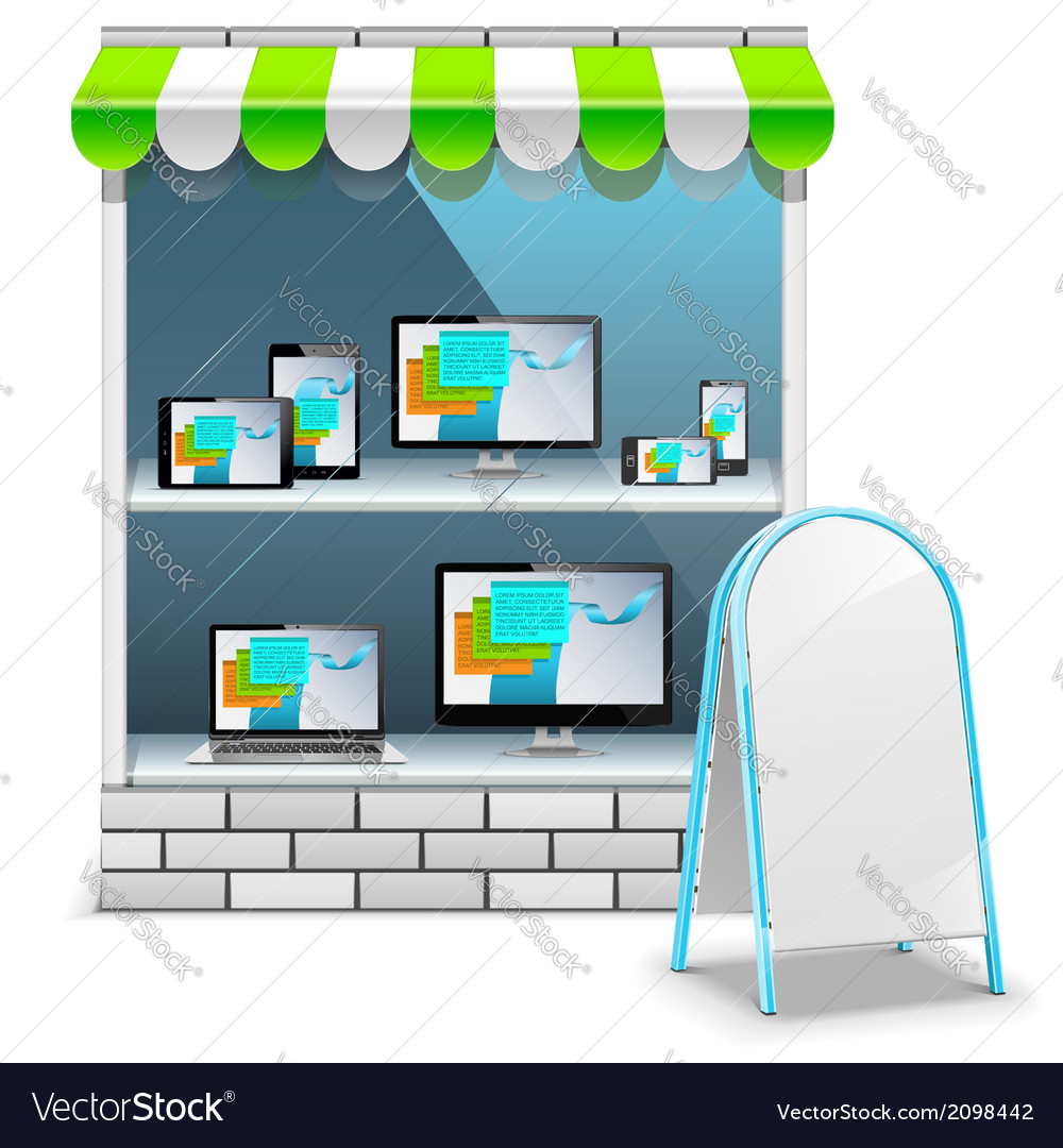 Computer store vector | Price: 1 Credit (USD $1)