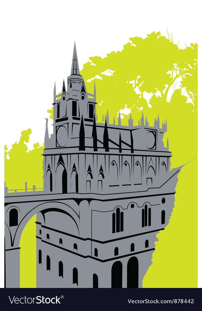 Grey castle vector | Price: 1 Credit (USD $1)