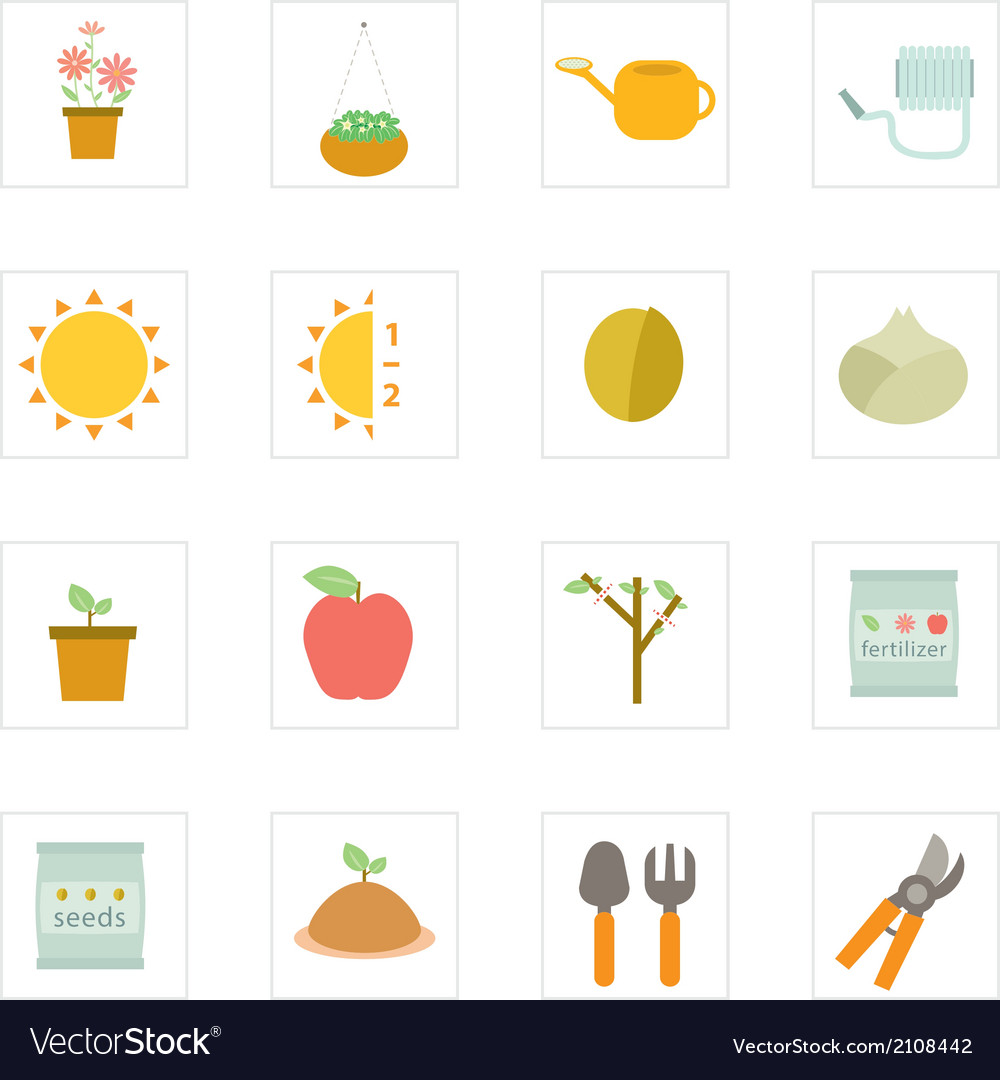 Icon garden vector | Price: 1 Credit (USD $1)