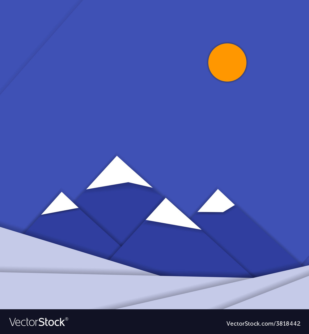 Material design landscape background with vector | Price: 1 Credit (USD $1)
