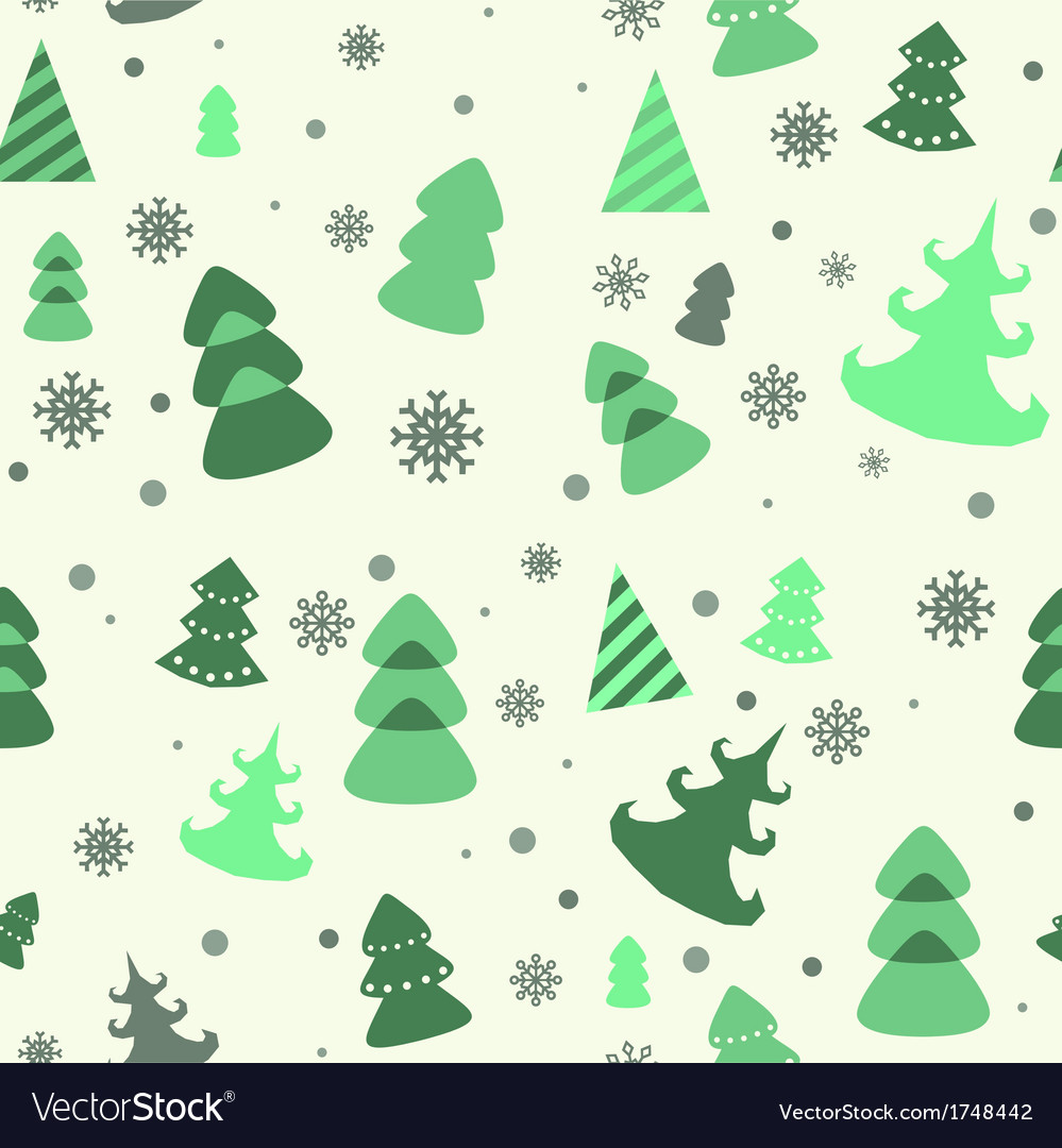 Seamless pattern of christmas tree vector | Price: 1 Credit (USD $1)