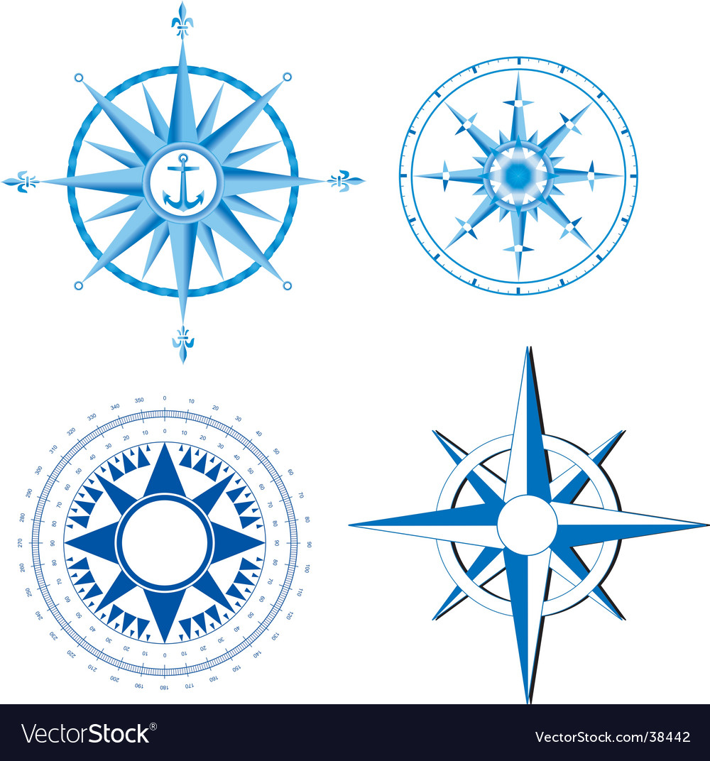 Wind rose nautical compass vector | Price: 1 Credit (USD $1)
