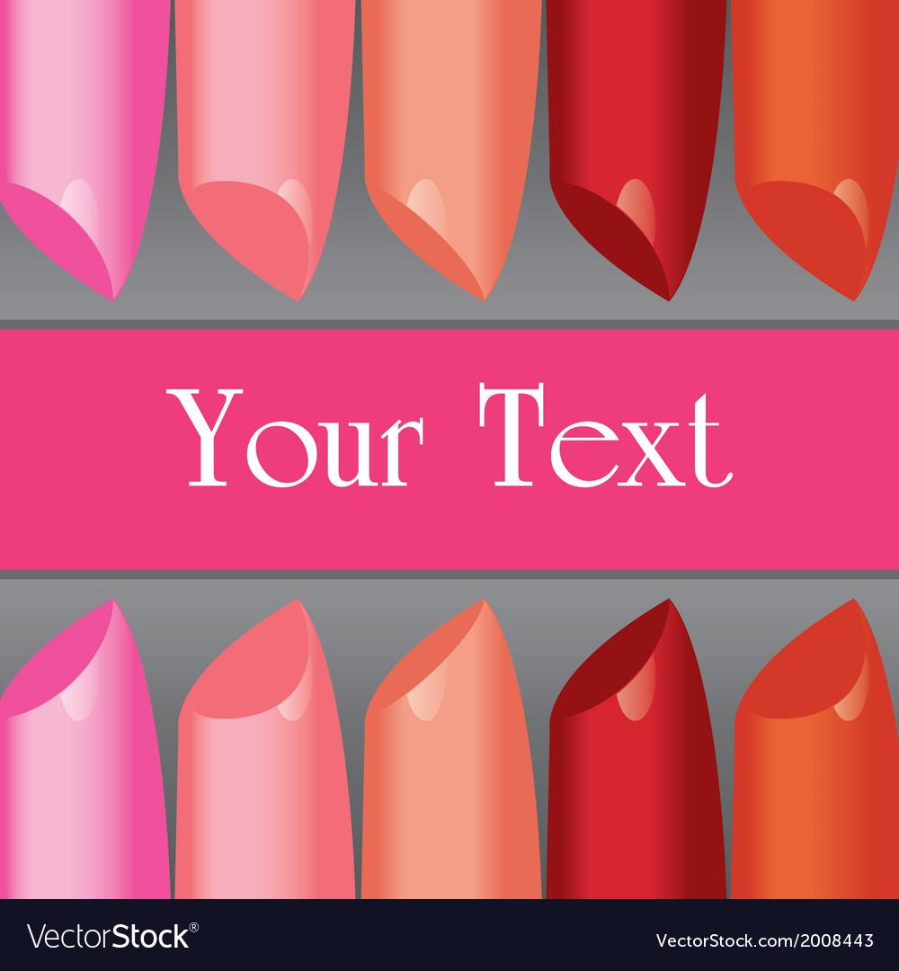 Colorful lipstick label board vector | Price: 1 Credit (USD $1)