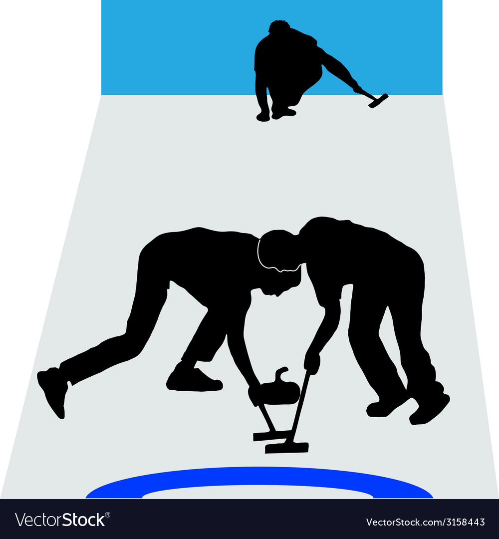 Curling sport vector | Price: 1 Credit (USD $1)