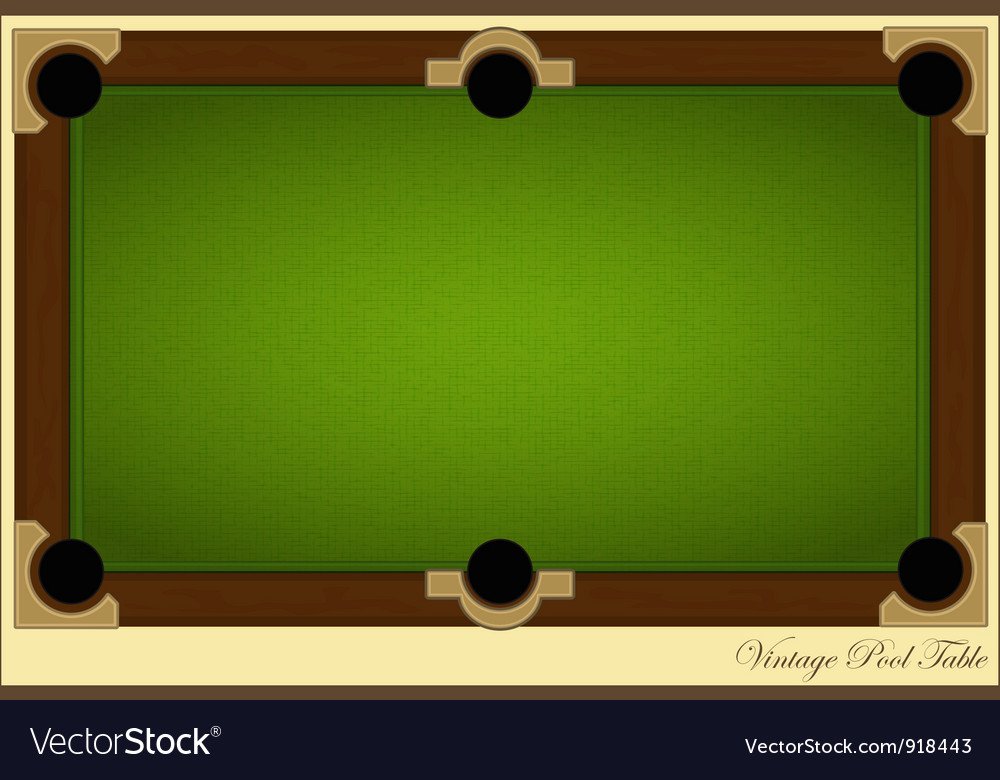 Pool table vector | Price: 1 Credit (USD $1)