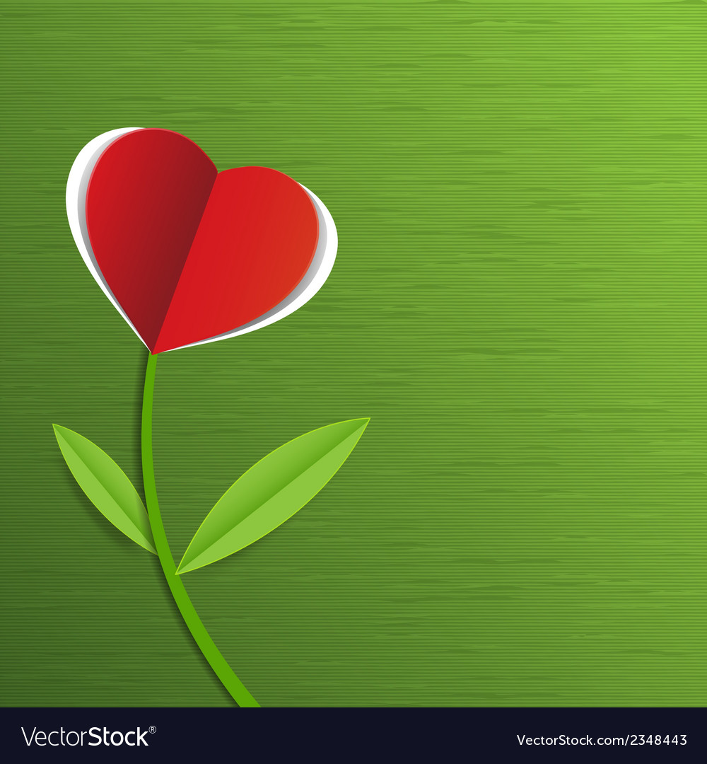 Red paper heart vector | Price: 1 Credit (USD $1)