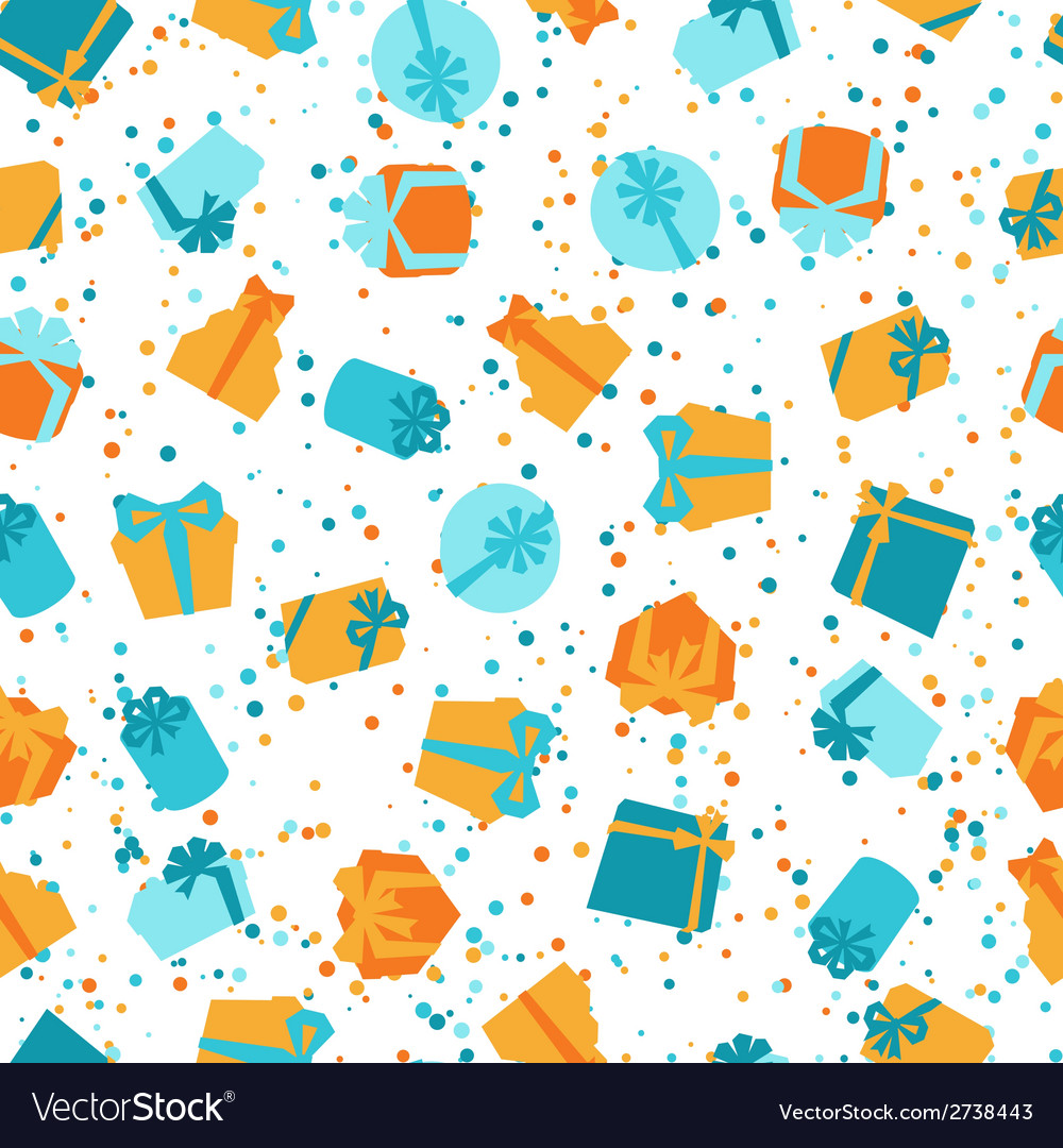 Seamless celebration pattern with colorful gift vector | Price: 1 Credit (USD $1)