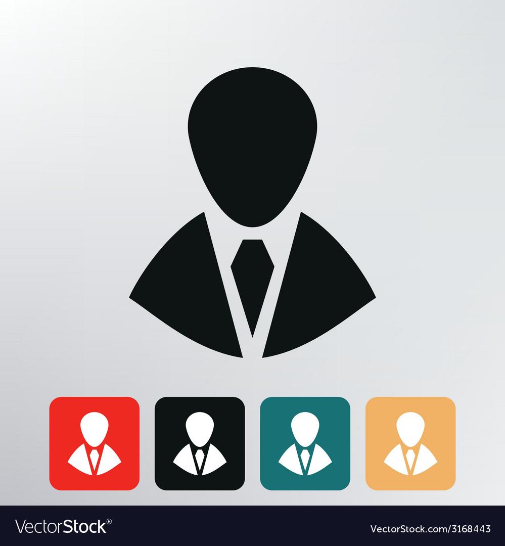 Silhouette in a tie icon vector | Price: 1 Credit (USD $1)