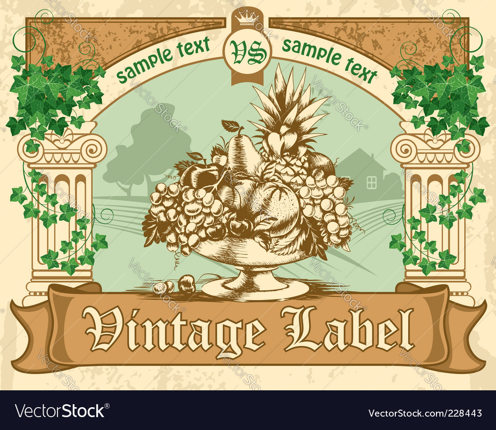 Vintage label vector | Price: 3 Credit (USD $3)