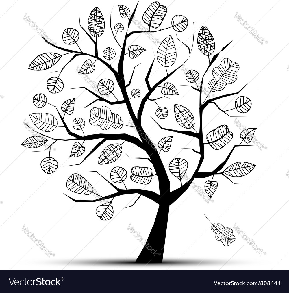 Art tree beautiful vector | Price: 1 Credit (USD $1)