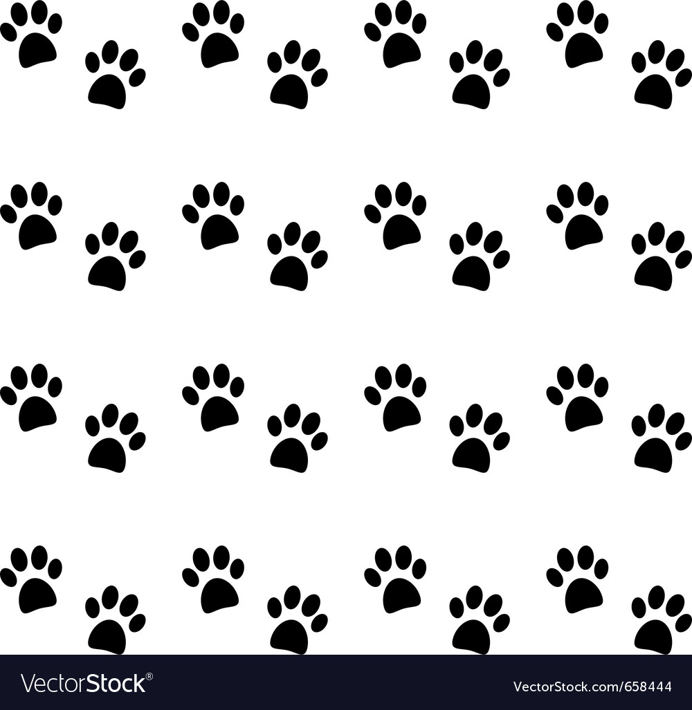 Background with black paw prints vector | Price: 1 Credit (USD $1)