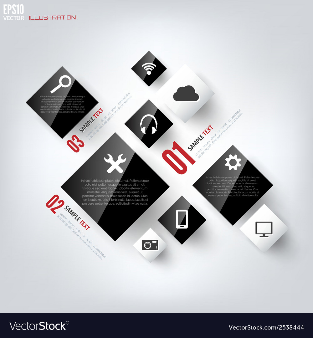 Black cloud computing background with web icons vector | Price: 1 Credit (USD $1)
