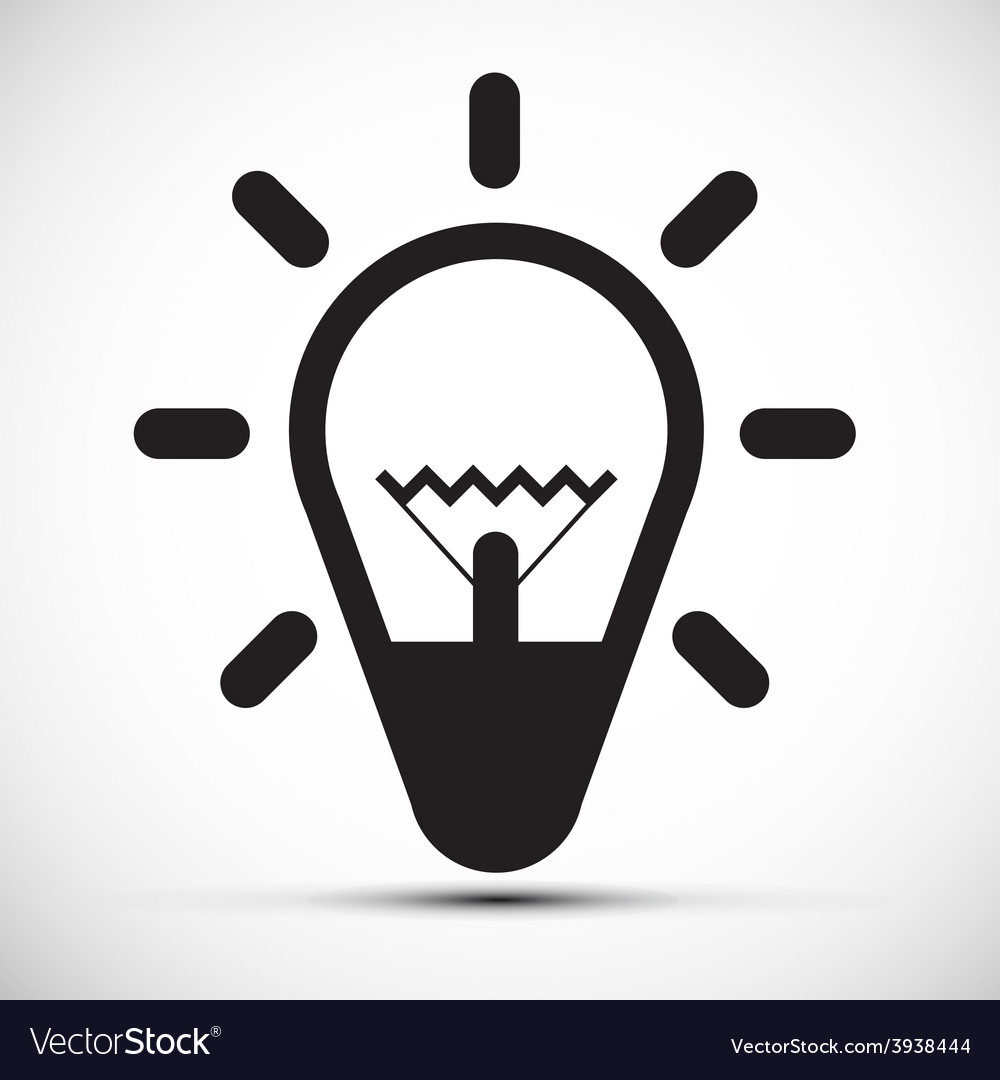 Bulb simple icon vector | Price: 1 Credit (USD $1)