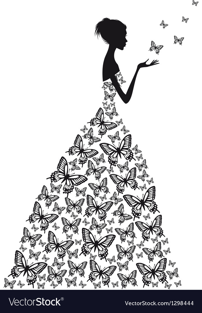Butterfly woman vector | Price: 1 Credit (USD $1)