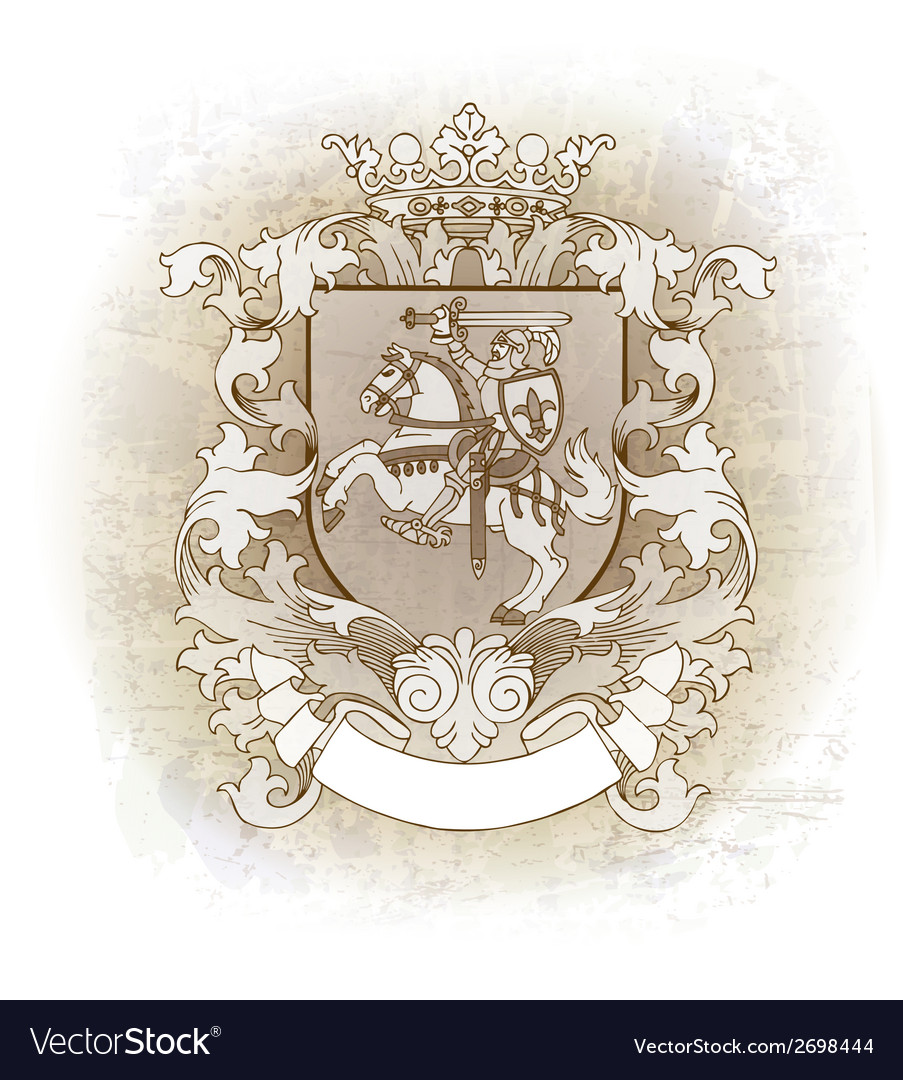 Coat of arms drawn by hand vector | Price: 1 Credit (USD $1)