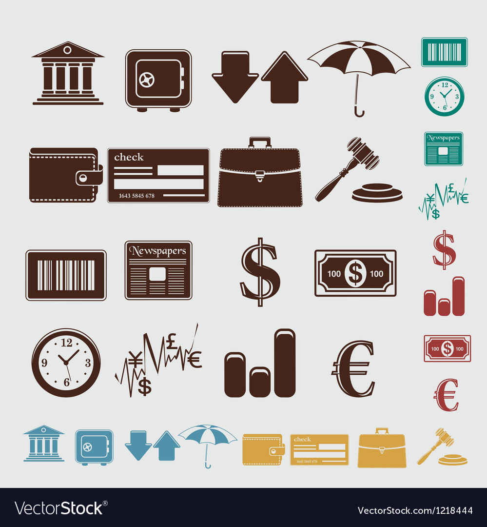 Finance set vector | Price: 1 Credit (USD $1)