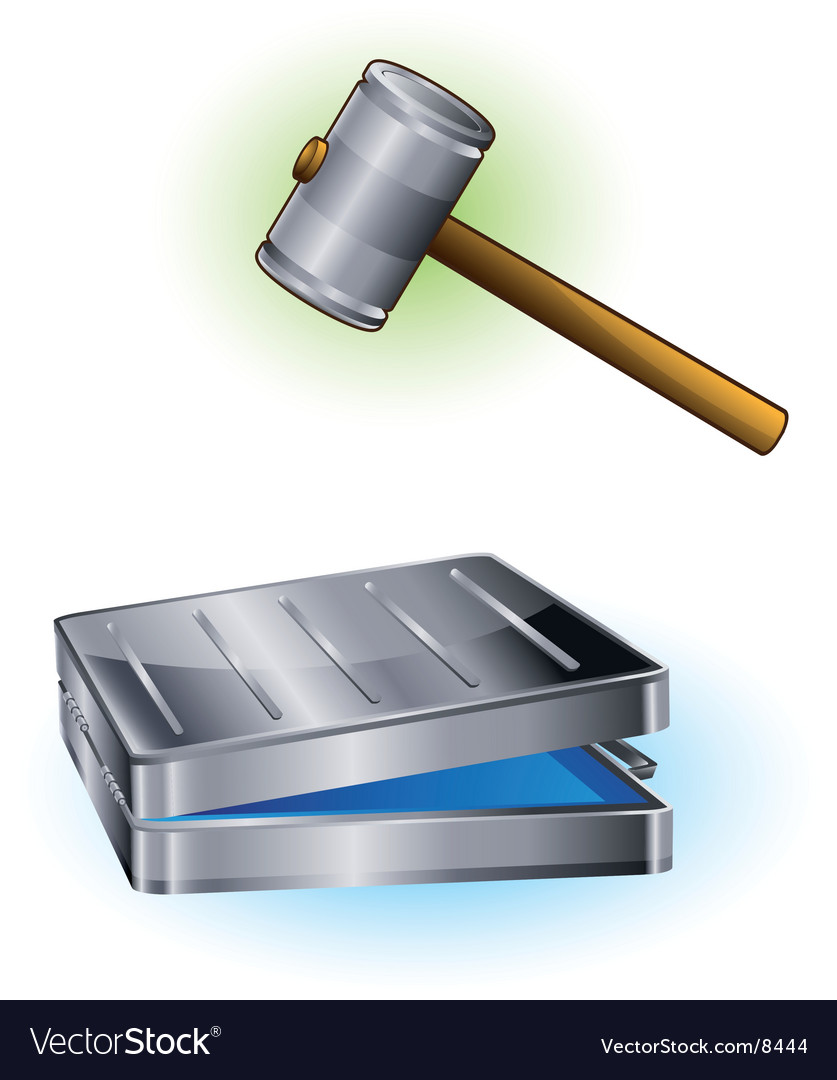 Hammer and case vector | Price: 3 Credit (USD $3)