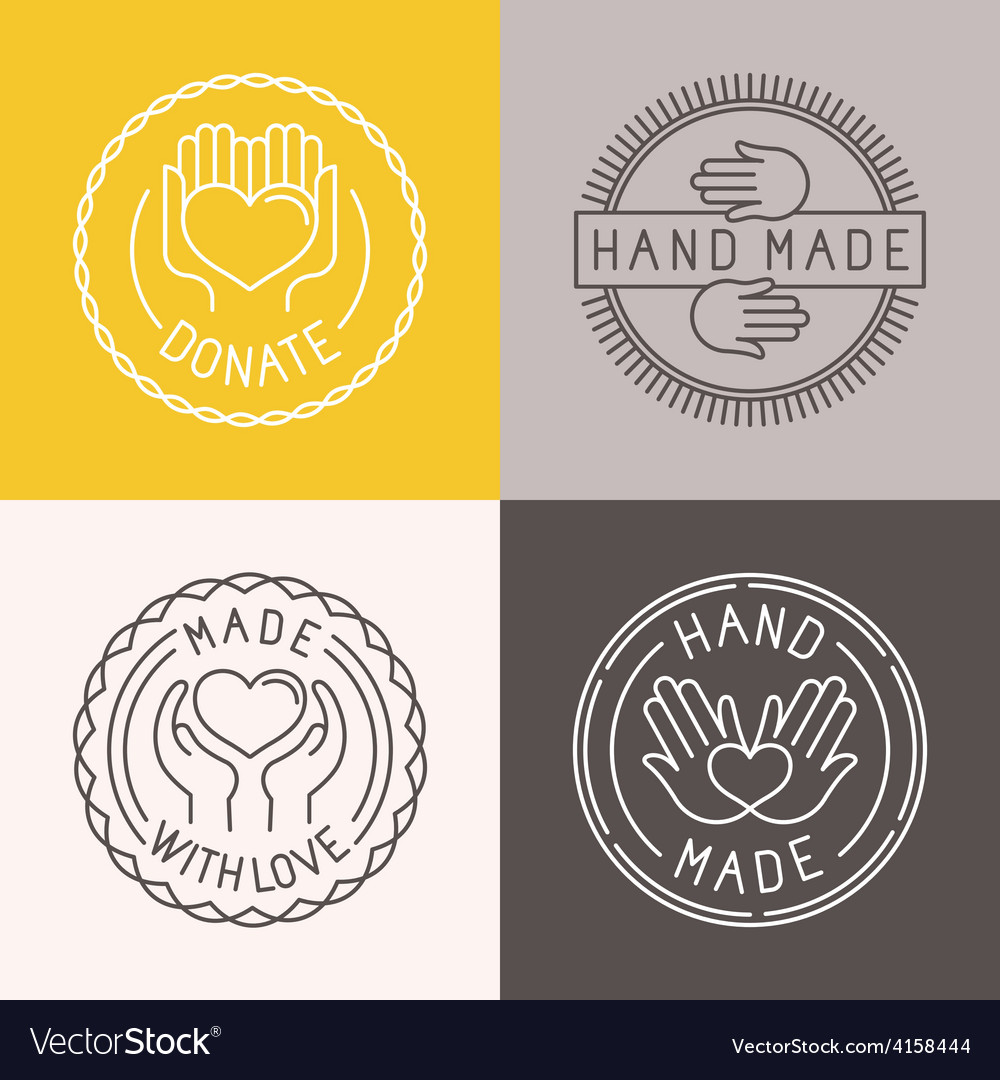 Hand made labels and badges vector | Price: 1 Credit (USD $1)
