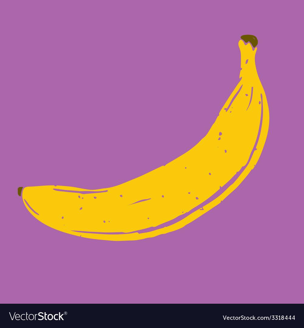 Isolated hand drawn banana vector   Price: 1 Credit (USD $1)