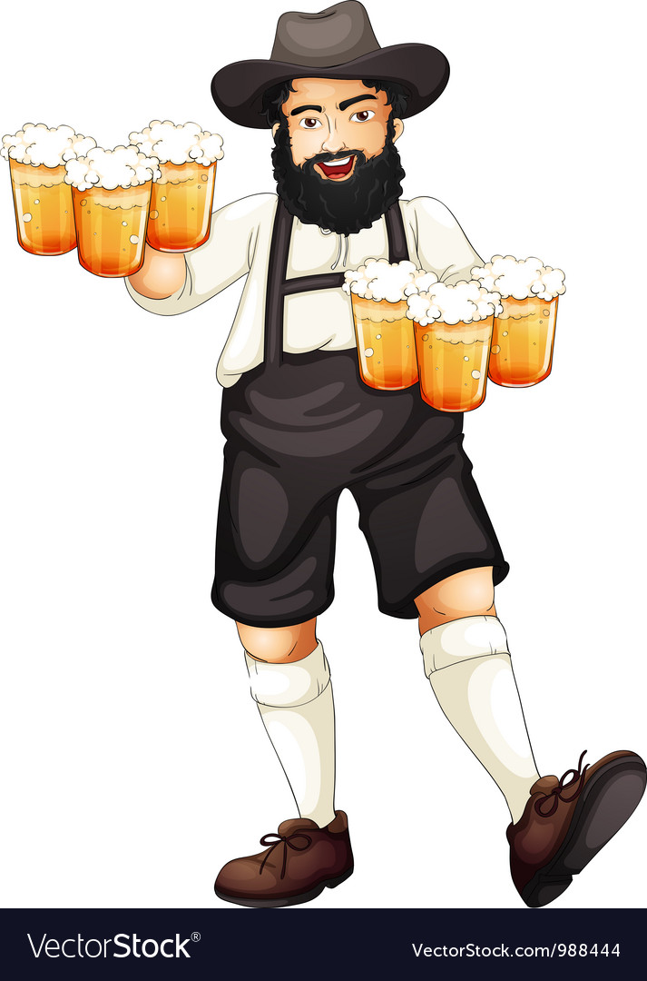 Man celebrating oktoberfest vector | Price: 1 Credit (USD $1)