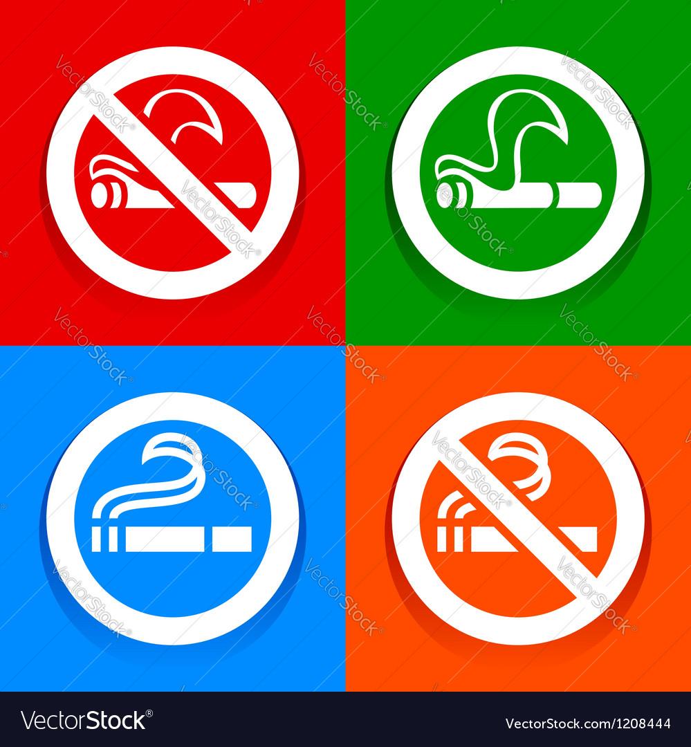 No smoking and smoking area - multicolored vector | Price: 1 Credit (USD $1)