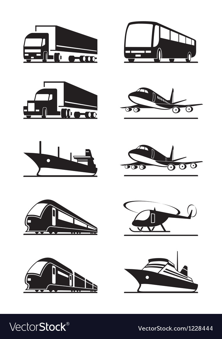Passenger and cargo transportations vector | Price: 1 Credit (USD $1)