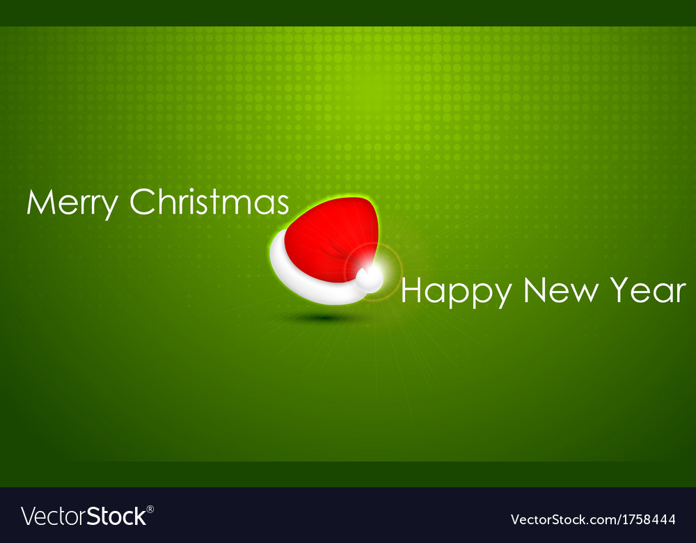 Santa cap for merry christmas and happy new year vector | Price: 1 Credit (USD $1)