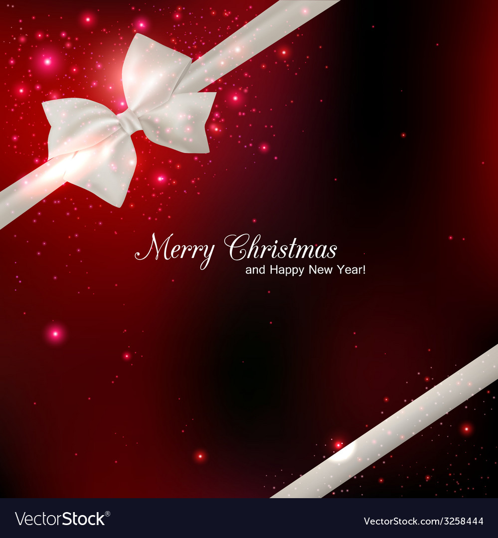 Shining red christmas background with silk white vector | Price: 1 Credit (USD $1)