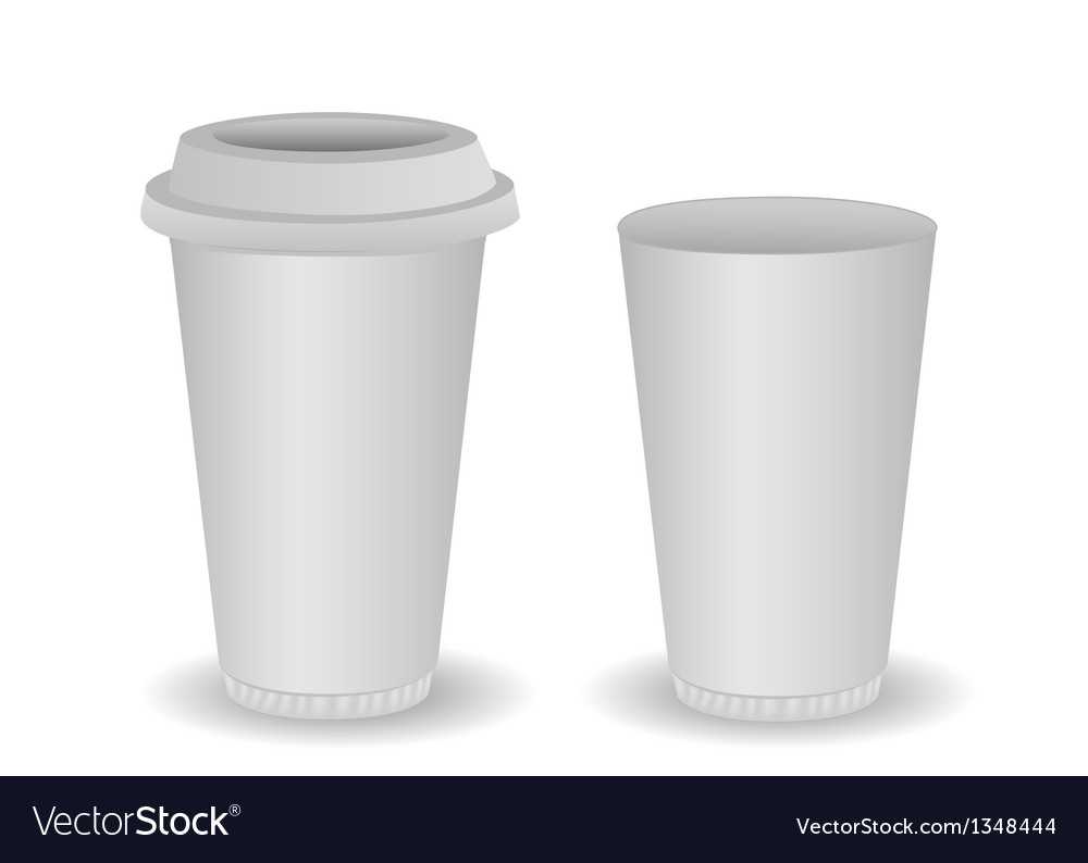 Two blank paper coffee cup vector | Price: 1 Credit (USD $1)