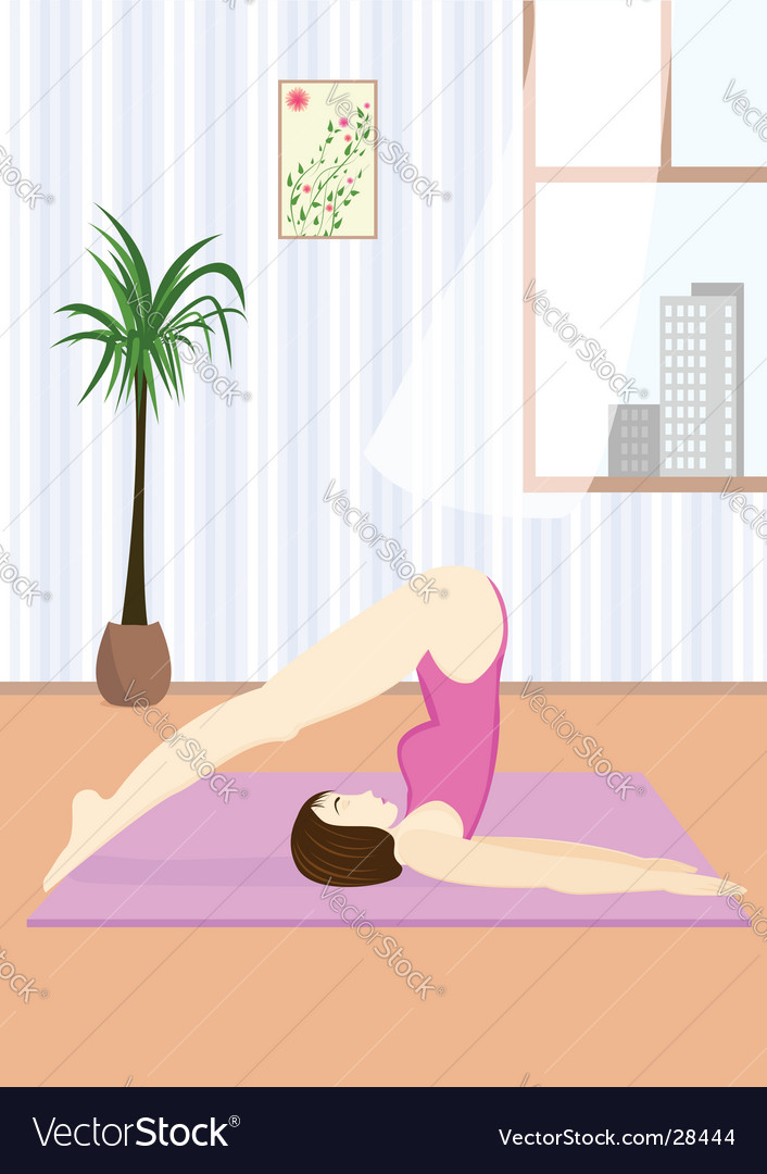 Young woman doing the yoga vector | Price: 3 Credit (USD $3)