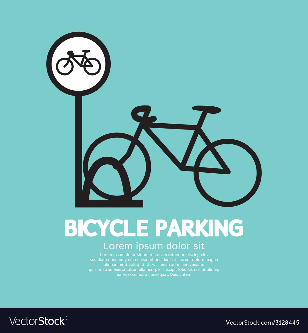 Bicycle parking sign vector | Price: 1 Credit (USD $1)