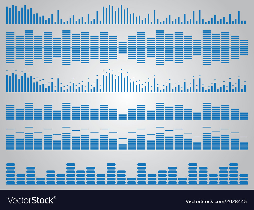 Blue music equalizer vector | Price: 1 Credit (USD $1)