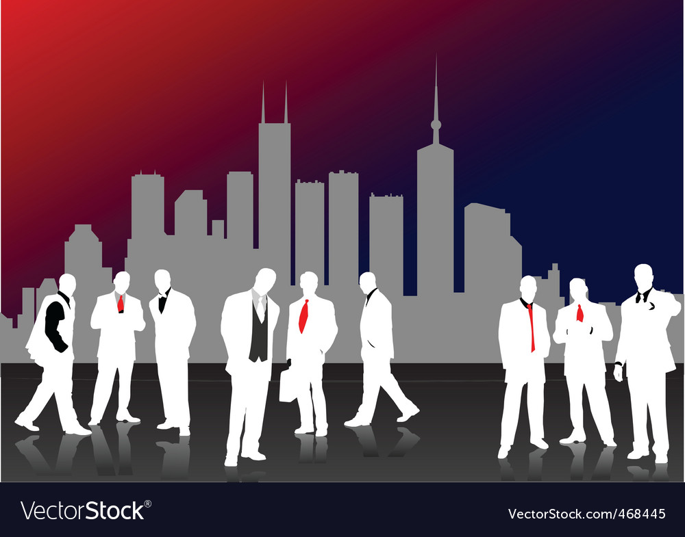 Business silhouettes vector | Price: 1 Credit (USD $1)