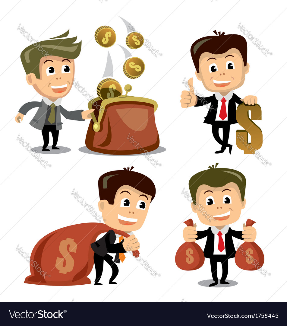 Businessman in various poses vector | Price: 1 Credit (USD $1)