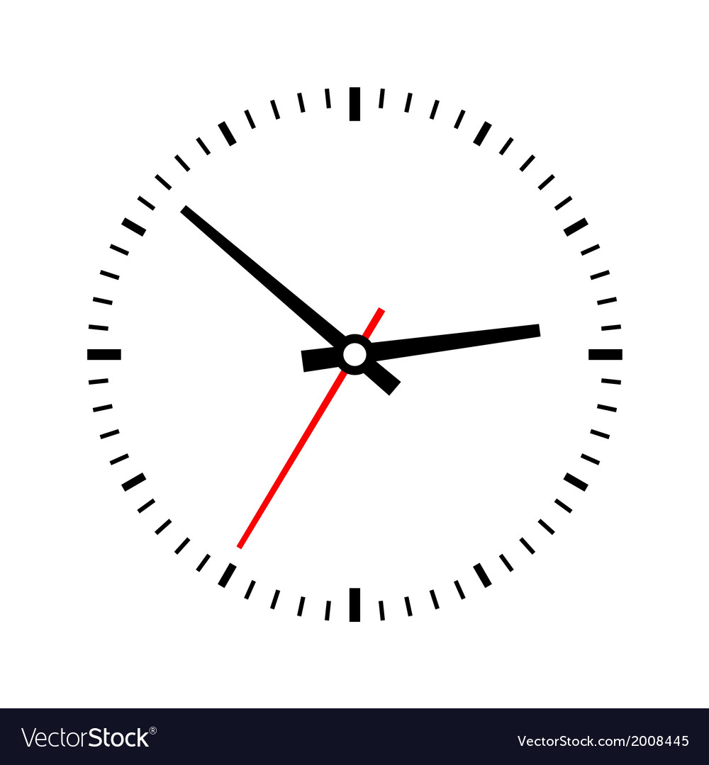 Clock dial on a white background vector | Price: 1 Credit (USD $1)