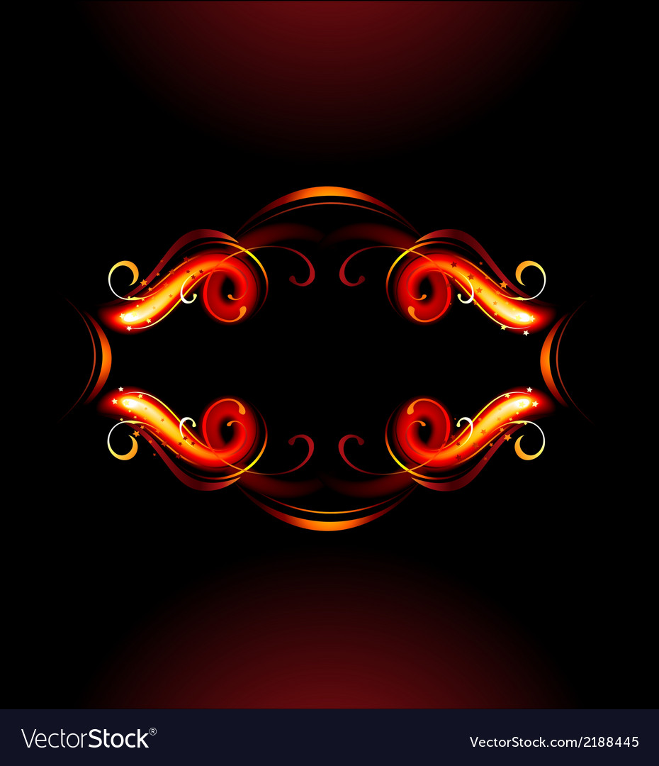 Fiery label vector | Price: 1 Credit (USD $1)