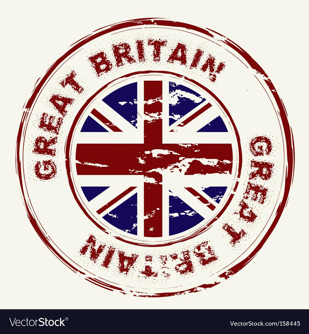 Great britain grunge ink stamp vector | Price: 1 Credit (USD $1)