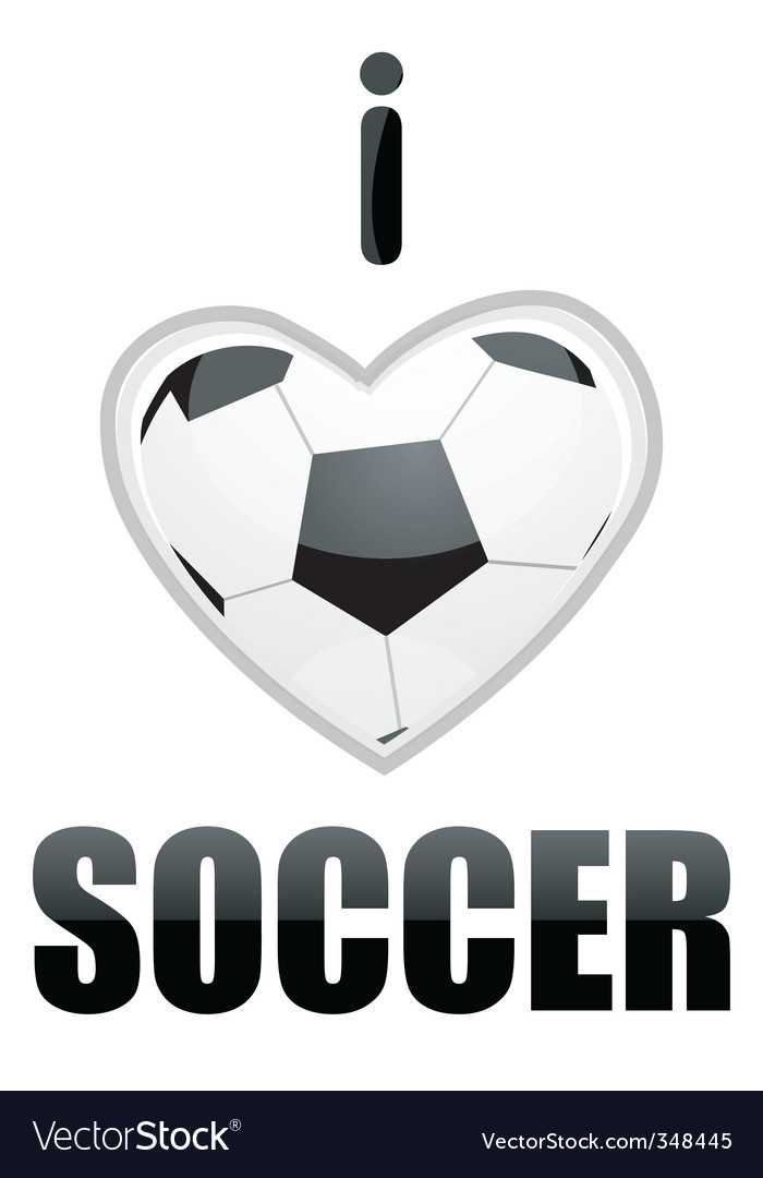 I love soccer vector | Price: 1 Credit (USD $1)