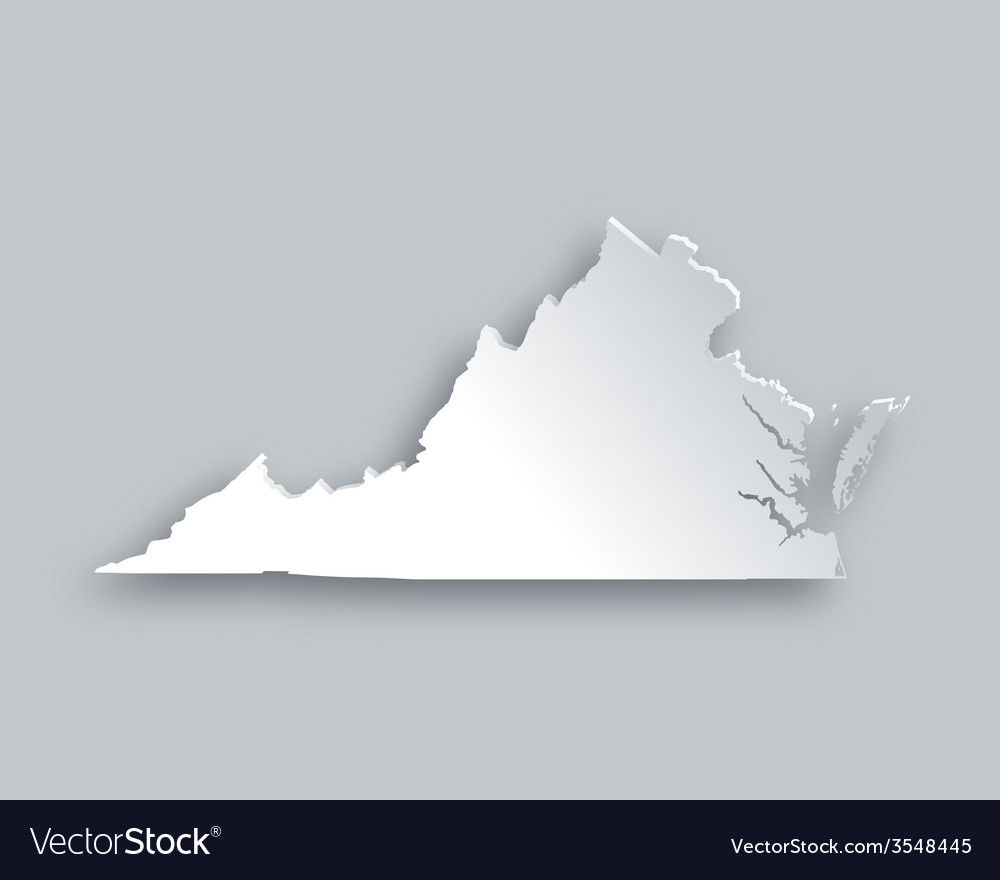Map of virginia vector | Price: 1 Credit (USD $1)