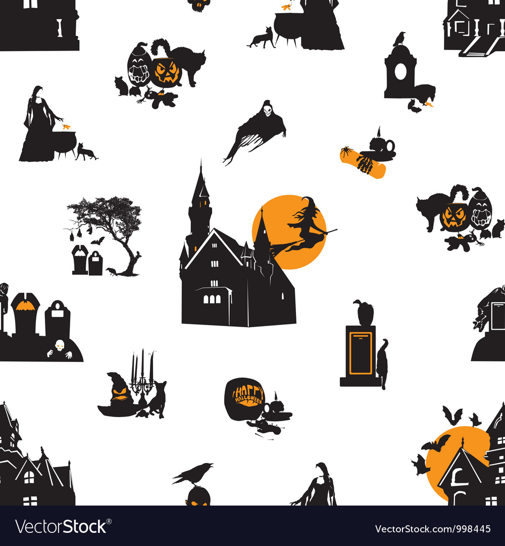 Seamless background with halloween theme vector | Price: 1 Credit (USD $1)