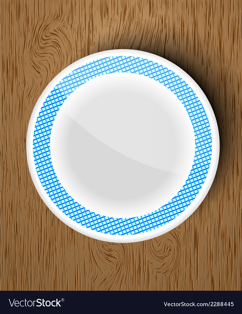Set of white dishes on a wooden vector | Price: 1 Credit (USD $1)