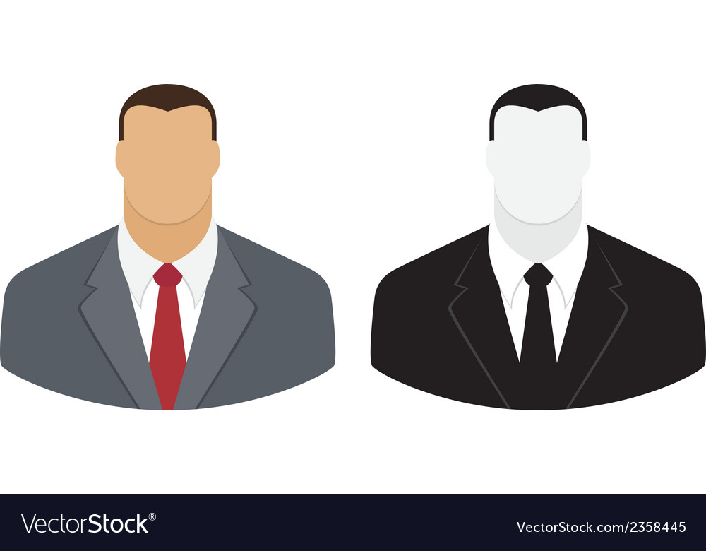 User icon of man in business suit vector | Price: 1 Credit (USD $1)