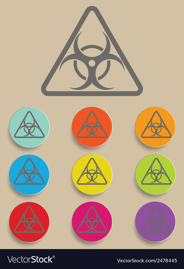 Warning symbol biohazard vector | Price: 1 Credit (USD $1)
