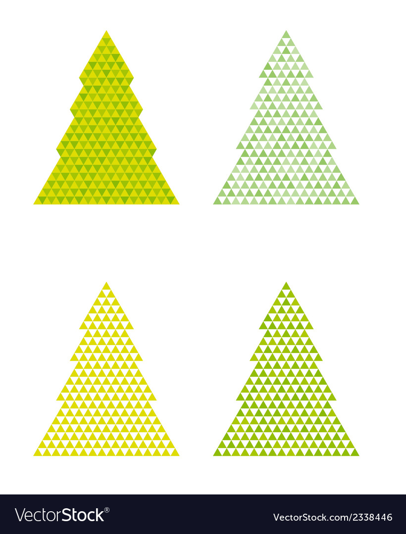 Abstract trees with triangle on the top vector | Price: 1 Credit (USD $1)