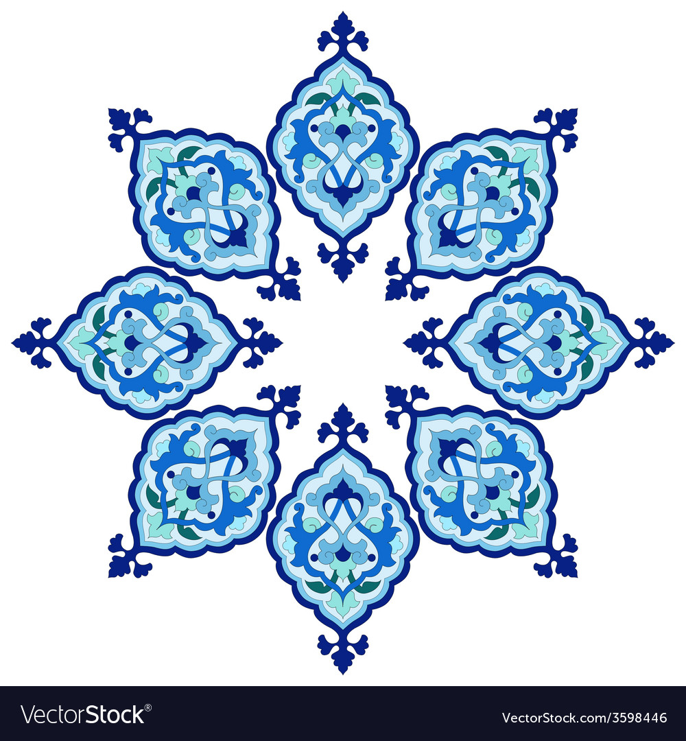 Artistic ottoman pattern series fiveteen vector | Price: 1 Credit (USD $1)