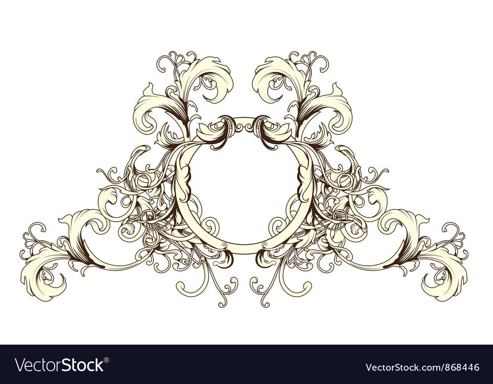 Baroque floral ornament vector | Price: 1 Credit (USD $1)